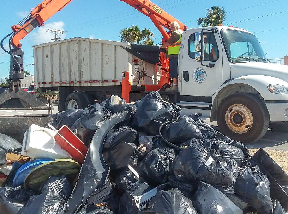Solid Waste Collecting Community Cleanup Debris W