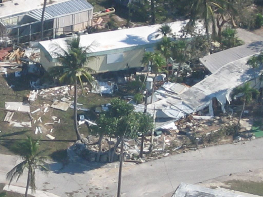 Damage after Hurricane Wilma