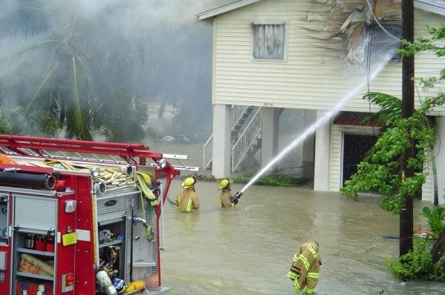Monroe County Fire Rescue During Flooding