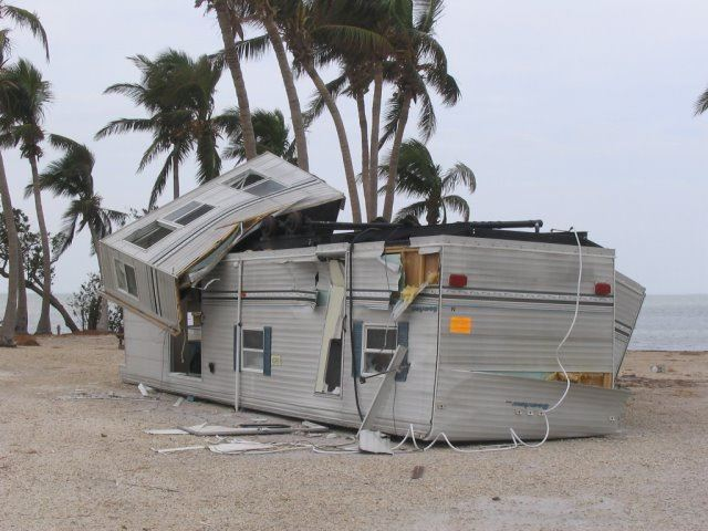 Hurricane Wilma 2005 Overturned Mobile Home