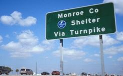 Monroe County Shelter Sign