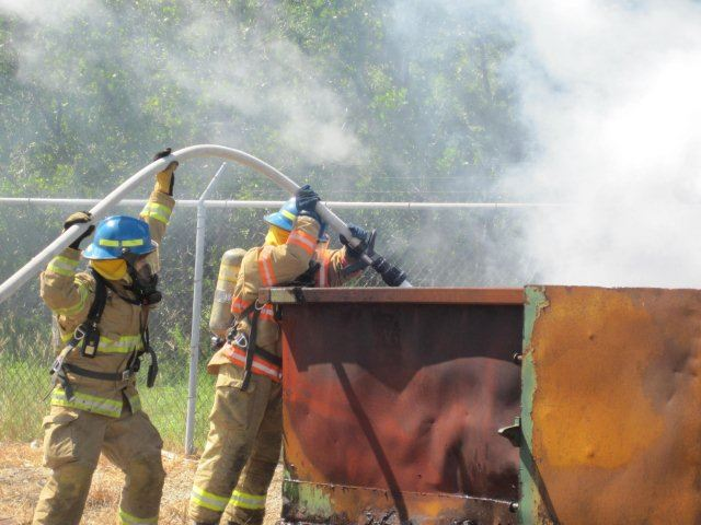 Firefighter I Training - Spraying Water