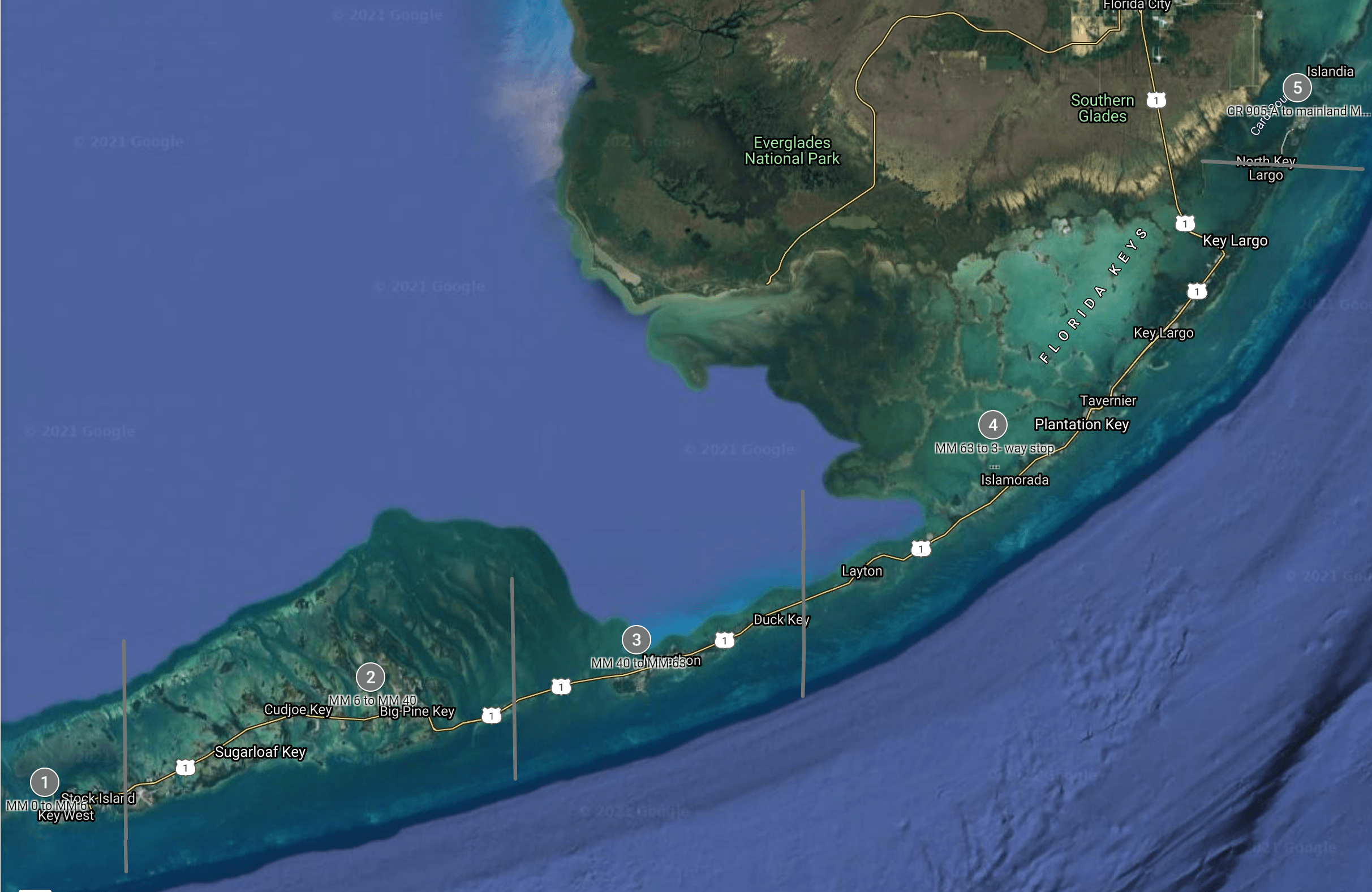Florida Keys Zone Map