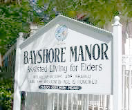 Bayshore Manor sign