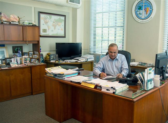 County Administrator Roman Gastesi at his Key West office.