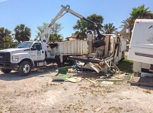 Irma Illegally Dumped Travel Trailer Removal-1 W