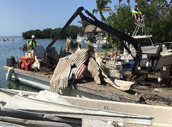 Debris removed from canal 475 Geiger Key