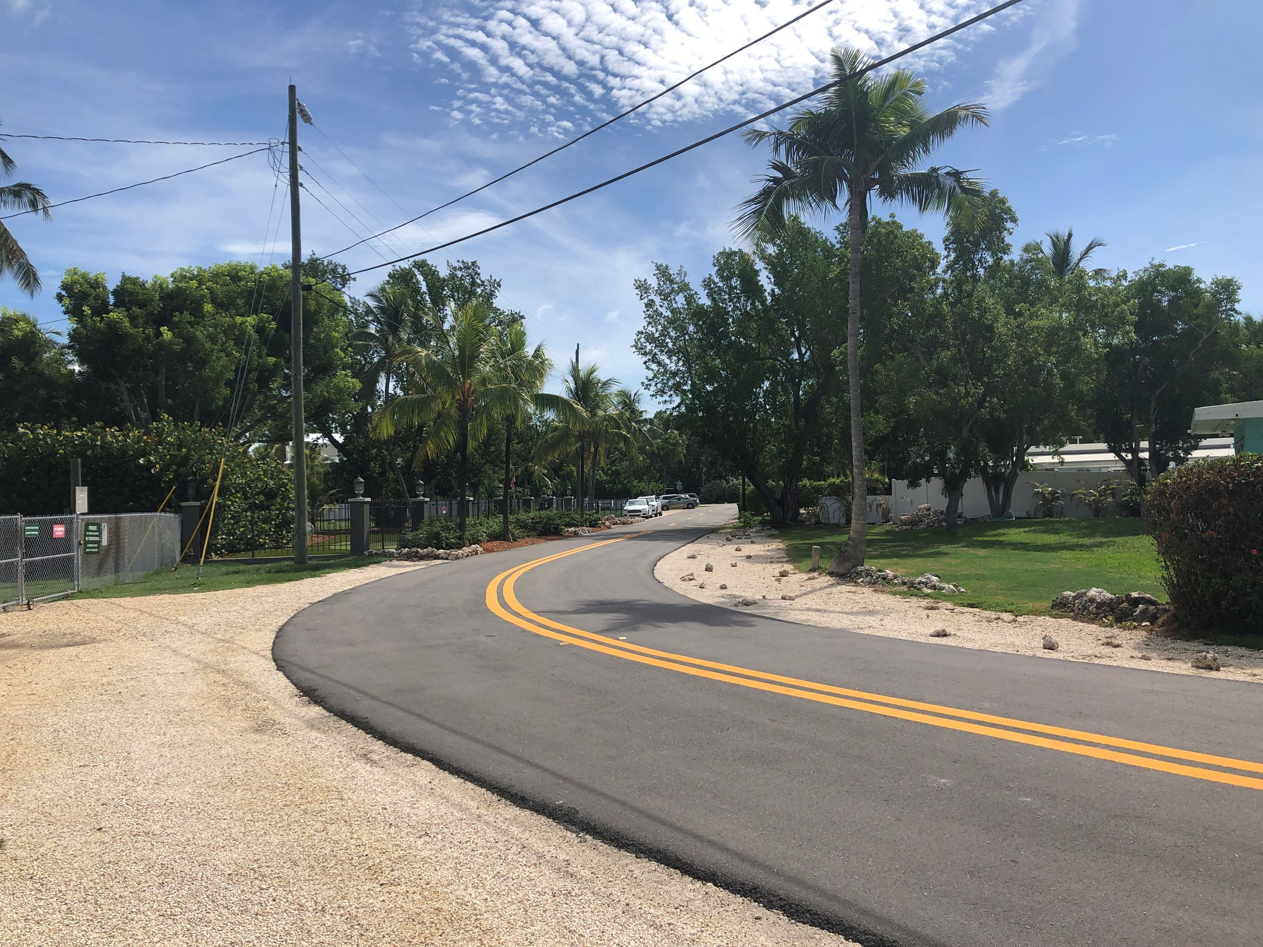 The Bay Harbor subdivision roadway and drainage project in Key Largo was recently completed.