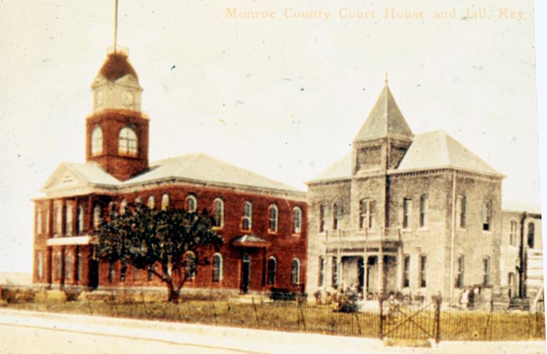 Key West Courthouse and Key West Jail in 1908