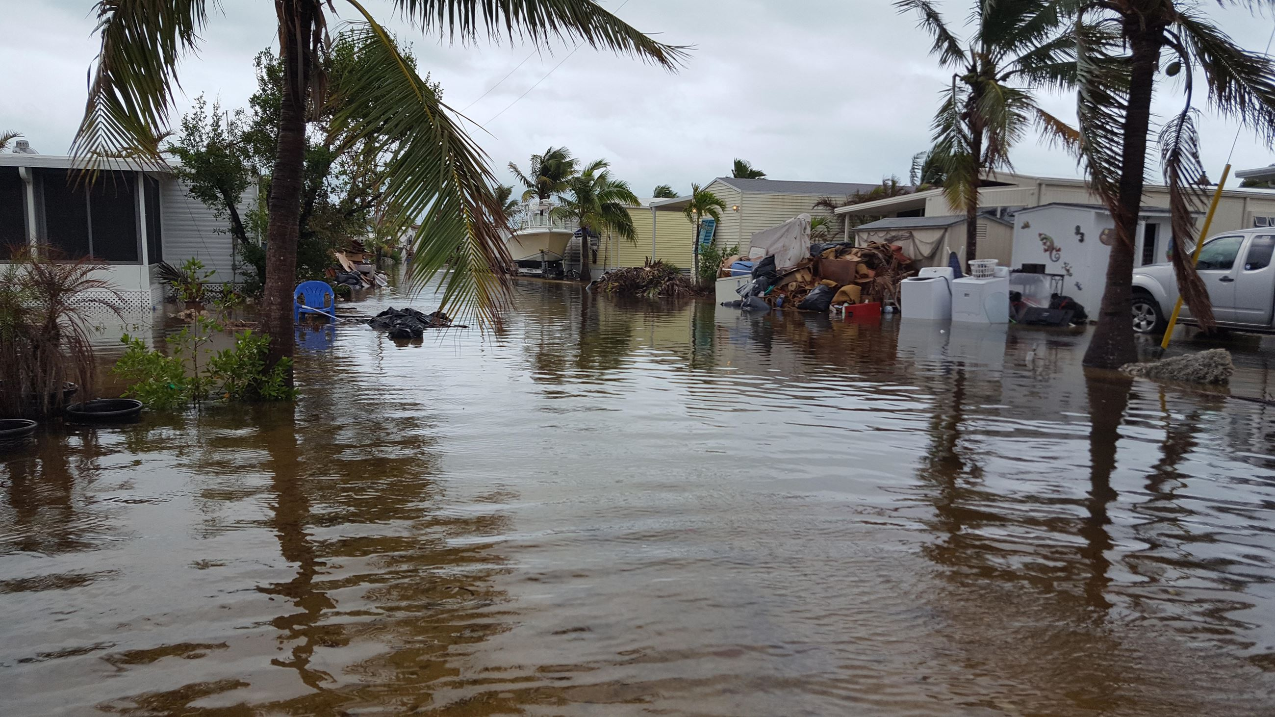40 Flooded Mobile homes due to King Tides