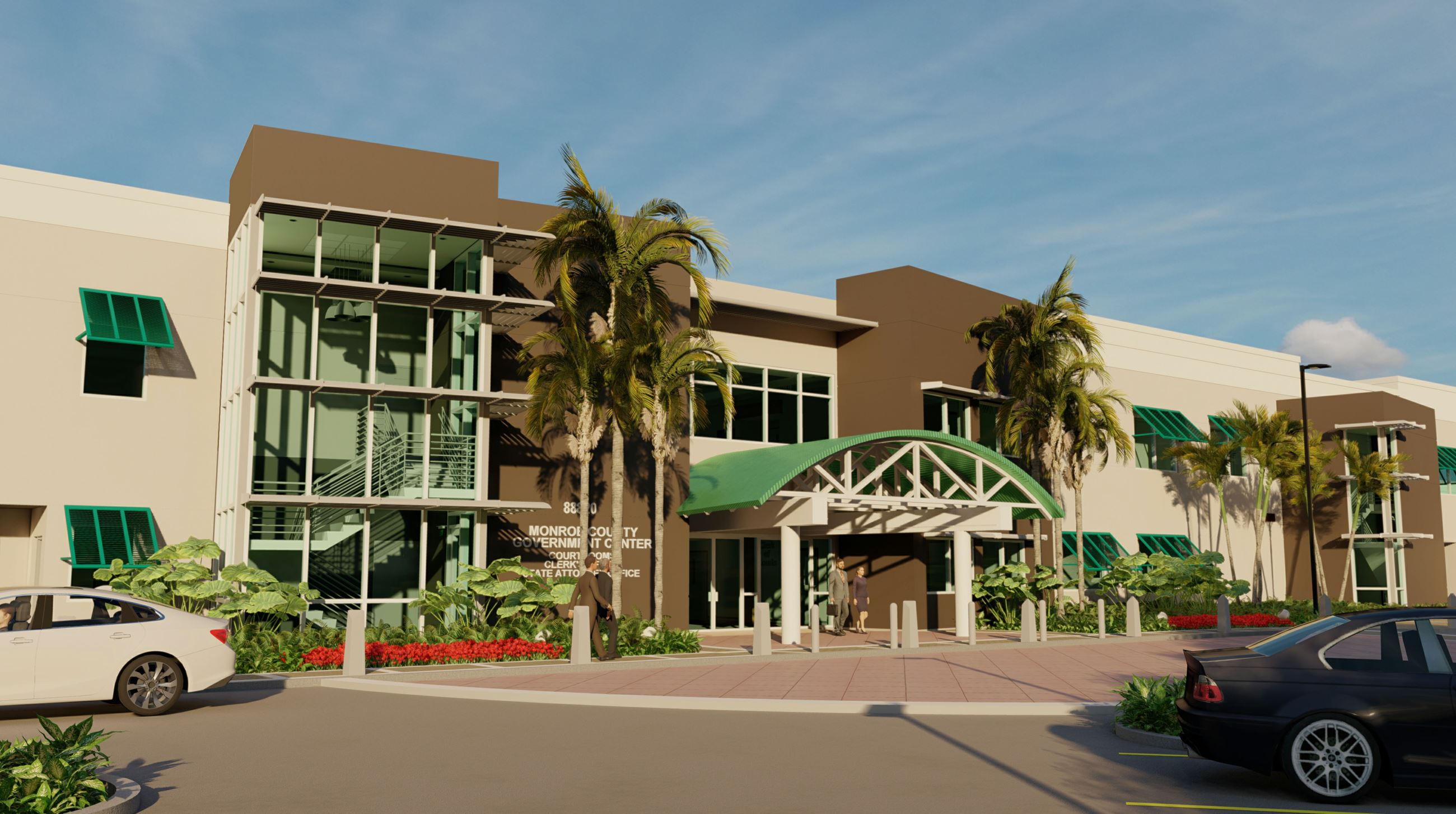 Artist Rendering of the Plantation Key Courthouse